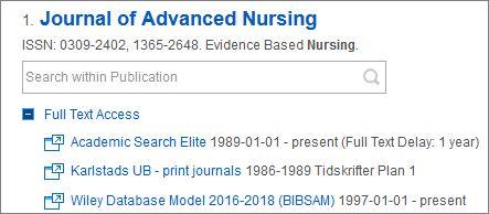 Find full text articles   Karlstad University