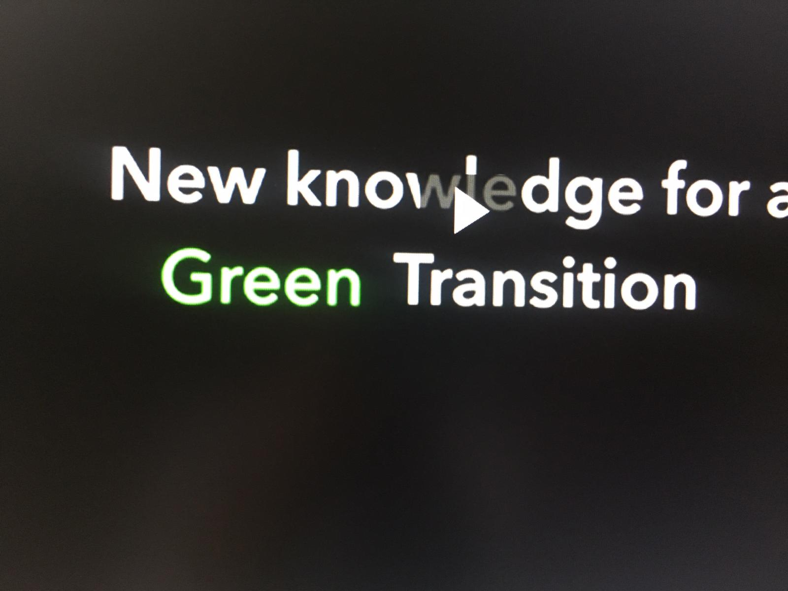 Bildruta film New knowledge for a Green Transition